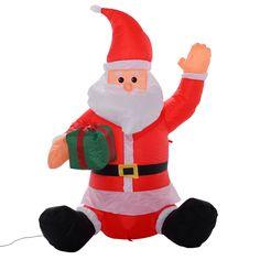 4 Ft Airblown Inflatable Christmas Xmas Santa Claus Gift Decor Lawn Yard Outdoor