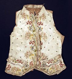 Waistcoat  Date:     third quarter 18th century Culture:     French Medium:     [no medium available] Dimensions:     Length at CF: 18 in. (... Accession Number: C.I.50.85.2