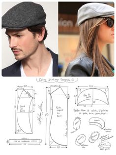 Best 12 Sewing Patterns Free Boys Newsboy Cap 55 Ideas For 2019 Hat Patterns To Sew, Dress Sewing Patterns, Sewing Patterns Free, Clothing Patterns, Sewing Clothes, Diy Clothes, Costura Fashion, Diy Hat, Leather Hats