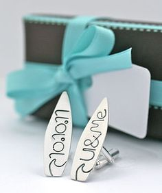 You & Me Surf Wedding Cufflinks