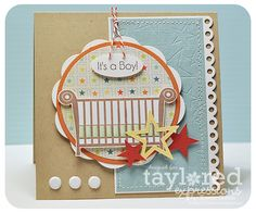 Ack - I love how she made the greeting into a mobile over the crib!!