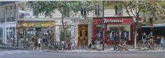 Grenelle, Paris Street View, Van, Paris, Painting, Vans, Painting Art, Paintings