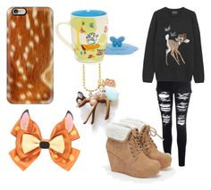 Bambi by thyra-dahl on Polyvore featuring Mode, Markus Lupfer, Glamorous, JustFab, Casetify and Disney