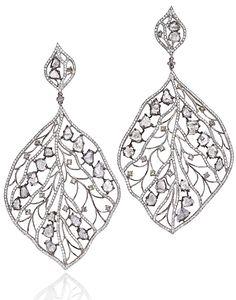 L' Dezen Jewellery Lova White Gold Slice Diamond & White Diamond Chandeliers
