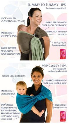 Tummy to Tummy & Hip Carry Tips.