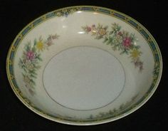 "www.jaedasplaythings.com Noritake Bowl Sauce Dessert Vtg 1930s Blue Band Floral 5.25"" Small  #Noritake"
