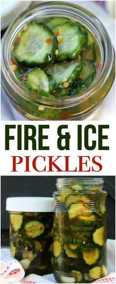Fire and ice pickles are sweet and spicy pickles that are great on a sandwich or as a snack, and the perfect way to use an abundance of cucumbers! Spicy Pickle Recipes, Cucumber Recipes, Canning Recipes, Famous Dave's Sweet And Spicy Pickles Recipe, Famous Dave's Pickle Recipe, Cucumber Ideas, Canning Tips, Cucumber Canning, Canning Pickles