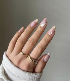 Perfect Nails, Gorgeous Nails, Pretty Nails, Subtle Nails, Funky Nails, Edgy Nails, Classy Nails, Stylish Nails, Classy Almond Nails
