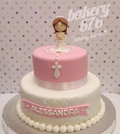 Première Communion, Communion Cakes, First Holy Communion, Confirmation Cakes, Communion Invitations, Cake Decorating Tips, Girl Cakes, Holi, Party Time
