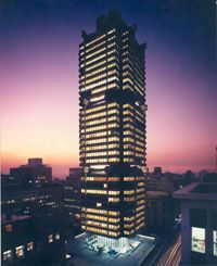 We move into our prestigious new head office building at 78 Fox Street in Johannesburg, designed by German architect, Helmut Hentrich in 1970 Johannesburg City, Our Legacy, Green Building, Office Interiors, South Africa, Skyscraper, The Past, German, Fox