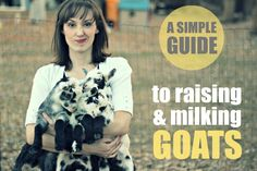 Raising and milking goats - a simple guide... Pinning this for our future @Corrinne Taylor Johnson - Luke will never know ;)