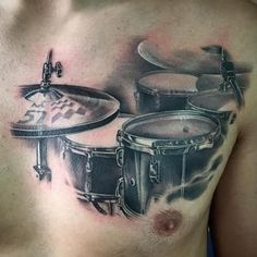 Music tattoo arm guys ideas for 2019 - My list of best tattoo models Music Tattoo Designs, Music Tattoos, New Tattoos, Body Art Tattoos, Cool Tattoos, Drum Tattoo, S Tattoo, Back Tattoo, Music Tattoo Sleeves