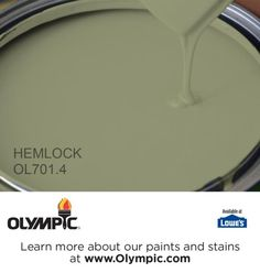 HEMLOCK OL701.4 is a part of the greens collection by Olympic® Paint.