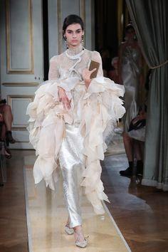 Vogue Online, Giorgio Armani, No Frills, Ruffles, Tulle, Victorian, Dresses, Fashion, Vestidos