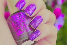 Opi Nails, sparkle purple nails.