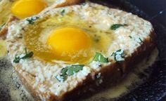 """Perfect a """"Toad in the Hole"""" Breakfast....my mom always called them Birds in a Nest :-)"""