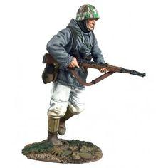 """German Volksgrenadier  in Parka Running with K-98 No1"