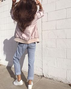 """Pink bomber  @acnestudios"" by @rumineely on... / A FASHION ODYSSEY"