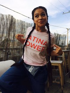 Gina Rodriguez Latina - Soft Pink Latina Power Tee – Jen Zeano Designs - Latina Shirt - Jane The Virgin. Estilo Chola, Estilo Tomboy, Gina Rodriguez, Jane The Virgin, Grunge Outfits, T-shirt Tumblr, T Shirt Hipster, T-shirt Hippie, K Pop