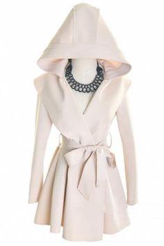 Hooded women coat(2 colors)_Coats_CLOTHING_Voguec Shop
