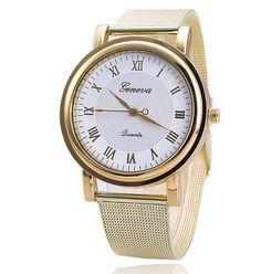Značkové dámské hodinky Geneva ve zlaté barvě s bílým ciferníkem Na tento  produkt se vztahuje nejen 62a96643a2