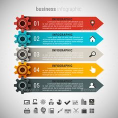 Business Infographic — Photoshop PSD #icon #symbol • Available here → https://graphicriver.net/item/business-infographic/14504903?ref=pxcr