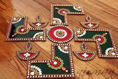 Rangoli Bollywood inspired Acrylic floor art Indian by Nirman Diwali Decorations, Indian Wedding Decorations, Festival Decorations, Hanging Decorations, Rangoli Patterns, Rangoli Ideas, Diwali Craft, Diwali Rangoli, Diya Designs