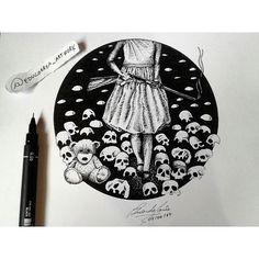 Helena!  Mais um desenho da sessão holocausto concluído.