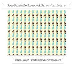 Free Landscape Cream Chevron Large Princess Jasmine Pattern Paper - Aladdin