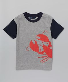 This Gray & Red Lobster Tee - Infant, Toddler & Boys is perfect! #zulilyfinds