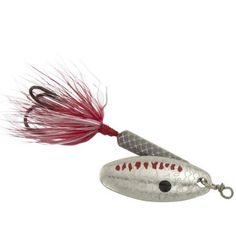 Worden 1/4 oz Rooster Tail Lure, Grey Ghost