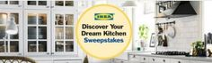 Enter the This Old House Discover Your Dream Kitchen Sweepstake and you could win one five gift cards from IKEA to create your very own dream kitchen. The Grand Prize is a $10,000 IKEA gift card, with a first prize of a $3,000 gift card and three second prizes of a $1,000 gift card.
