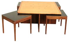 One Kings Lane - Mad for Mid-Century Modern - Drexel Coffee Table Set, 5 Pcs