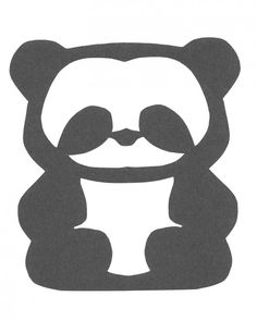 Cute paper cut panda that kids can make. printable template Kid Crafts for Chinese New Year  China craft children pandas