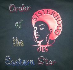 Order of the Eastern Star Shirt - OES rhinestone bling / Unisex size