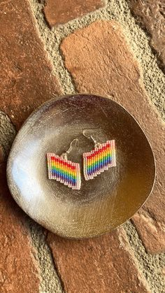 Chubbeadrings Pride Flag Pride Symbol Beaded Earrings By Chubbeadrings by chubbybeadedearrings on Etsy Etsy Earrings, Beaded Earrings, Pride Flag, Symbols, Vienna, Handmade, Accessories, Clothes, Ear Rings