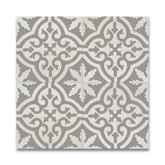 Argana Grey and White Handmade Moroccan 8 x 8 inch Cement and Granite Floor or Wall Tile (Case of 12)