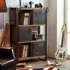 City high storage with metal doors is an industrial design furniture, practical & good looking. Get this and other furniture at our online store Singapore. Industrial Design Furniture, Industrial Living, Metal Furniture, Furniture Design, Tall Cabinet Storage, Locker Storage, Men Apartment, Manchester, Cool Office