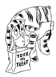 kleurplaat Iejoor Halloween Kids-n-Fun