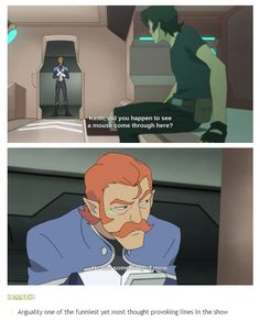 What exactly (mustache juice, mustache brush, mustache scissors that he never uses? Perhaps we will never know but I hope it has to do with Coran's mustache)