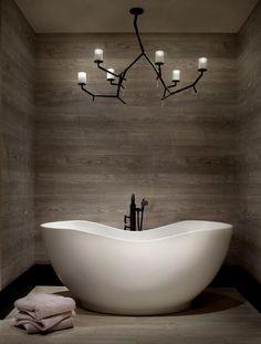 Kohler Abrazo Lithocast freestanding bath. On display in the Galvin Design Gallery: 10 Sundercombe Street, Osborne Park