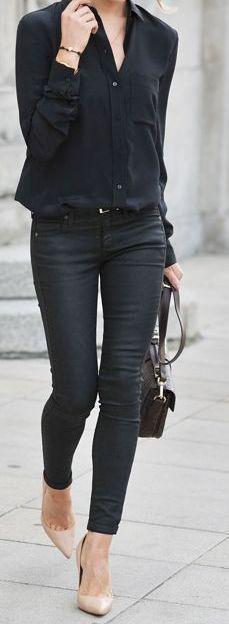 Woman All Black Outfits #woman #fashionoutfits #blackoutfit #fashiontrends #fashion #dressesforwomen #blackfashionblogger #blackfashion #fashiontrends2019 Fashion Tips, Fashion Outfits, Womens Fashion, Fashion Styles, Casual Outfits, Work Outfits, Create, Stylish, Street Style