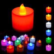 Polipropilene plastica 6 colori forma di candela led fliker candele senza fiamma luce per la festa nuziale decorazione di vacanza spedizione gratuita(China (Mainland))