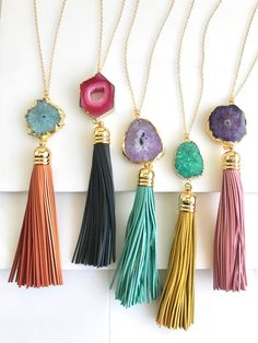 Pretty sparkle stones are the perfect pair to these tassels