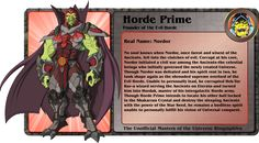 HORDE PRIME  founder of the evil horde!!!! (Masters of the Universe) Custom Action Figure