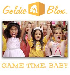 I'm a huge fan of Goldie Blox, engineering toys for girls. as a Top 4 finalist in Intuit Small Business Big Game. Vote for them to win a commercial on the 2014 Big Game! Engineering Toys For Girls, Toys R Us, Games For Girls, Big Game, Cool Toys, Girl Power, My Girl, Children, Kids