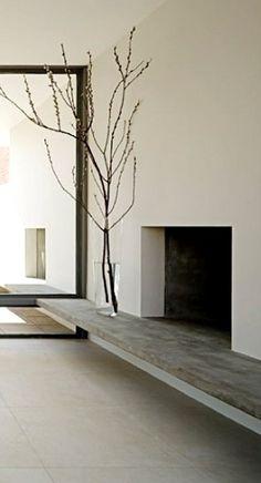 minimal fire pit / place, Steven Harris Architecture