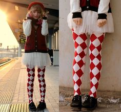 Alice And The Pirates Tights, H Skirt, New Look Cardigan