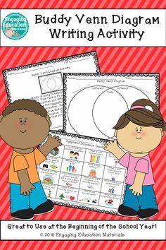 """This super fun """"getting-to-know-you"""" activity is great to do at the beginning of the school year, or really any time you want to reestablish a sense of community within your classroom. Students work in partners to discover similarities and differences abo 2nd Grade Centers, Reading Buddies, Thing 1, Common Core Reading, Beginning Of The School Year, Teaching Kindergarten, Teaching Materials, Reading Activities, Elementary Teacher"""