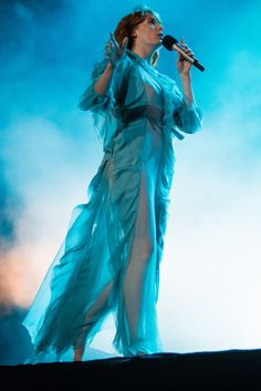 See the Magical Gucci Dresses Florence Welch Is Wearing on Tour via @WhoWhatWear